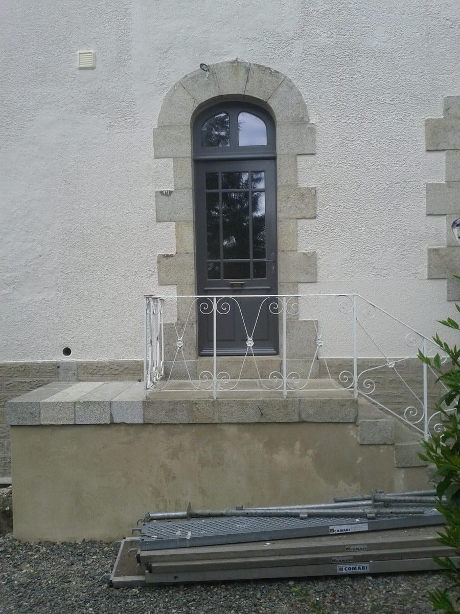 Porte vitr e style 1900 l 39 atelier du tregor for Porte vitree style atelier