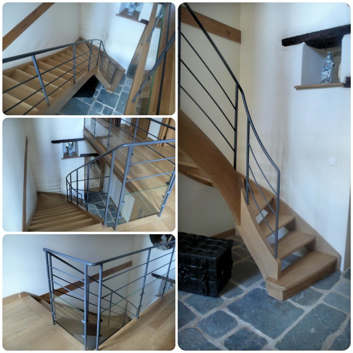 Escalier-Bois-Moderne-Morlaix-Finistère - L\'Atelier du Tregor